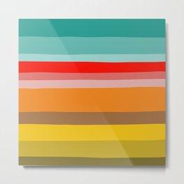 Color Stripes Metal Print