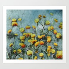 Summers Yellow Art Print