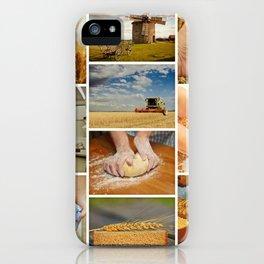 Wheat Bread Collage - Restaurant or Kitchen Decor iPhone Case