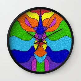 Stained Glass Unicorn Wall Clock