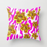 girly Throw Pillows featuring girly by Ana Lu Grosso