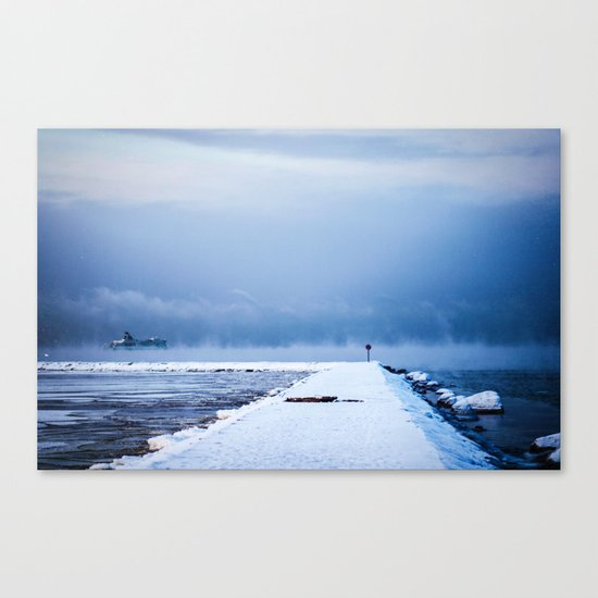Snow winter 42 Canvas Print
