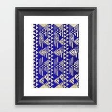 Ethnic Indigo Framed Art Print