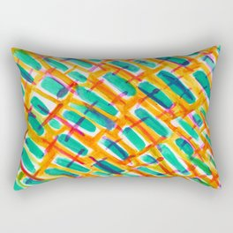 Crossed Rectangular Pillow