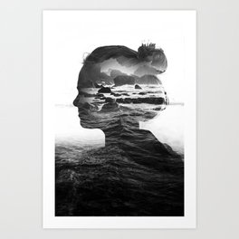 The Black Sea Inside Me Art Print
