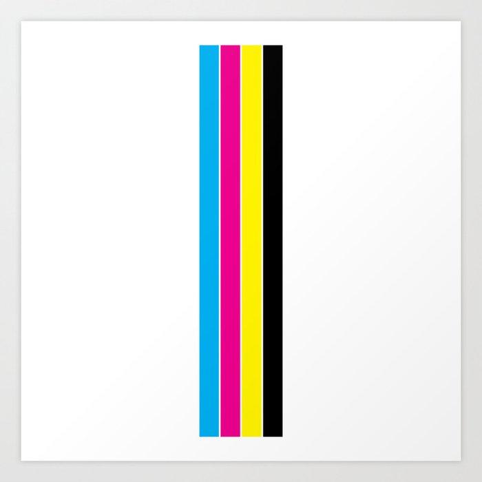 CMYK Stripes Kunstdrucke
