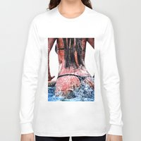 pool Long Sleeve T-shirts featuring Pool by Nester Formentera