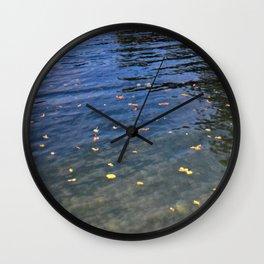 Autumn Arrives at the Lake Wall Clock