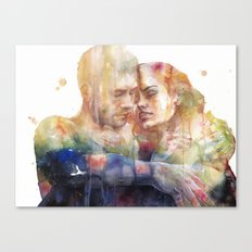 they could sense each other in the same light and in the same shadow Canvas Print