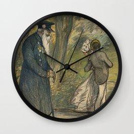 "Théophile Steinlen ""Love in the green"" Wall Clock"