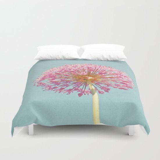 Pink Allium Duvet Cover