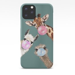 Bubble Gum Gang Dark Green iPhone Case