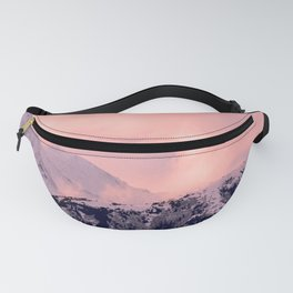 Kenai Mts Bathed in Serenity Rose - II Fanny Pack