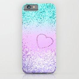 Sparkling UNICORN Girls Glitter Heart #9 #shiny #pastel #decor #art #society6 iPhone Case