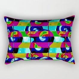"""Stripes and Shapes"", blue, purple, modern, unique, photo manipulation, spiritual, Rectangular Pillow"