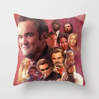 quentin tarantino Throw Pillows featuring Tarantino by turksworks