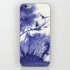 blaue Vögel iPhone & iPod Skin