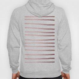 Simply Drawn Stripes Rose Quartz Elegance Hoody