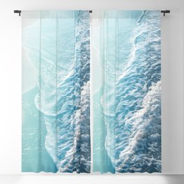 Soft Turquoise Ocean Dream Waves #1 #water #decor #art #society6 Blackout Curtain
