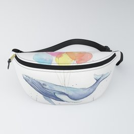 Whale with Balloons Fanny Pack