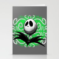jack skellington Stationery Cards featuring jack skellington by Dan Solo Galleries