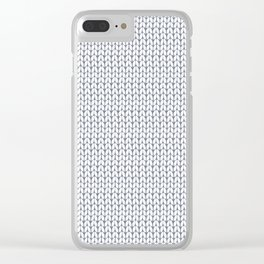 Knitted pattern. Clear iPhone Case