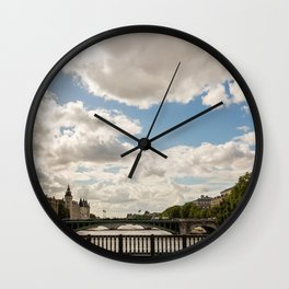 Paris Skies Wall Clock