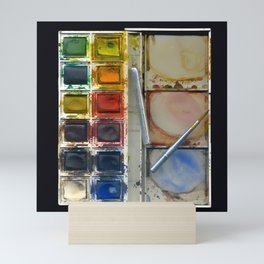 watercolor paintbox Mini Art Print
