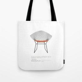 Mid-Century Diamond Lounge Chair Tote Bag