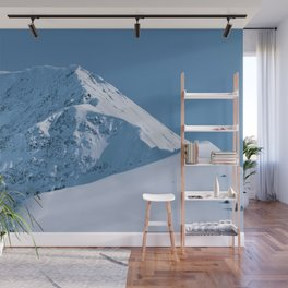 Winter Mountains in Glacier Blue - Alaska Wall Mural
