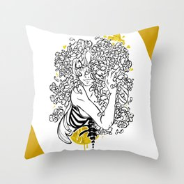 Inktober : Shy Throw Pillow