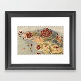 Salt Harbour Map Framed Art Print