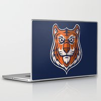 shield Laptop & iPad Skins featuring Tiger Shield by WanderingBert / David Creighton-Pester