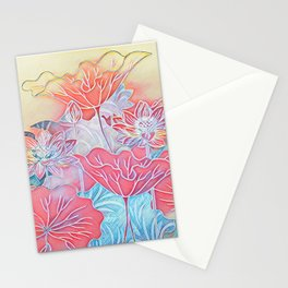 Painted Lotus Stationery Cards