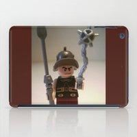 gladiator iPad Cases featuring Gladiator 'Cracalla the Gladiator' LEGO Custom Minifigure by Chillee Wilson by Chillee Wilson [Customize My Minifig]