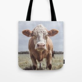 Animal Photography | Cow Portrait Photography | Farm animals Tote Bag