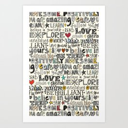 positively awesome Art Print