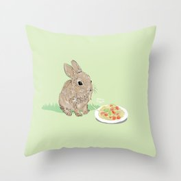 Sweet Rabbit Throw Pillow