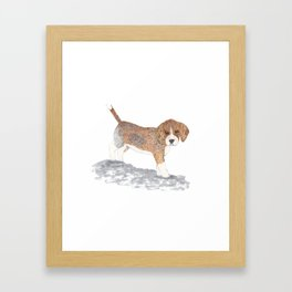 Beagle Puppy Framed Art Print