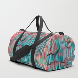 Geometric Design III - Lines and squiggles Duffle Bag