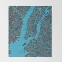 New York - Blue Throw Blanket