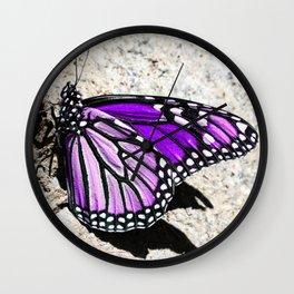 Beautiful Purple Butterfly Wall Clock