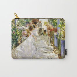 Joaquin Sorolla y Bastida - Sewing the sail 1896 Carry-All Pouch