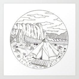 Yurt Dreams Art Print