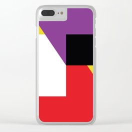 Same as before... a lot of colorful polygons, maybe a parallelepiped. Yo! Clear iPhone Case