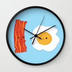 Would you be the bacon to my eggs? Wall Clock