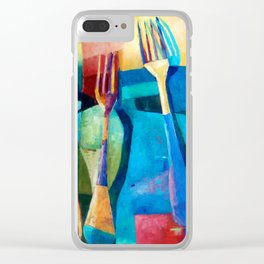 Funny Kitchen Art Color Food Fruit Abstract Nature Blue Decorative Clear iPhone Case