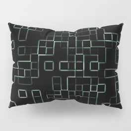 Green neon mosaic technology pattern Pillow Sham