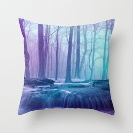 Forest Of Enchantment  Throw Pillow