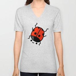 Ladybug Bby   Veronica Nagorny Unisex V-Neck